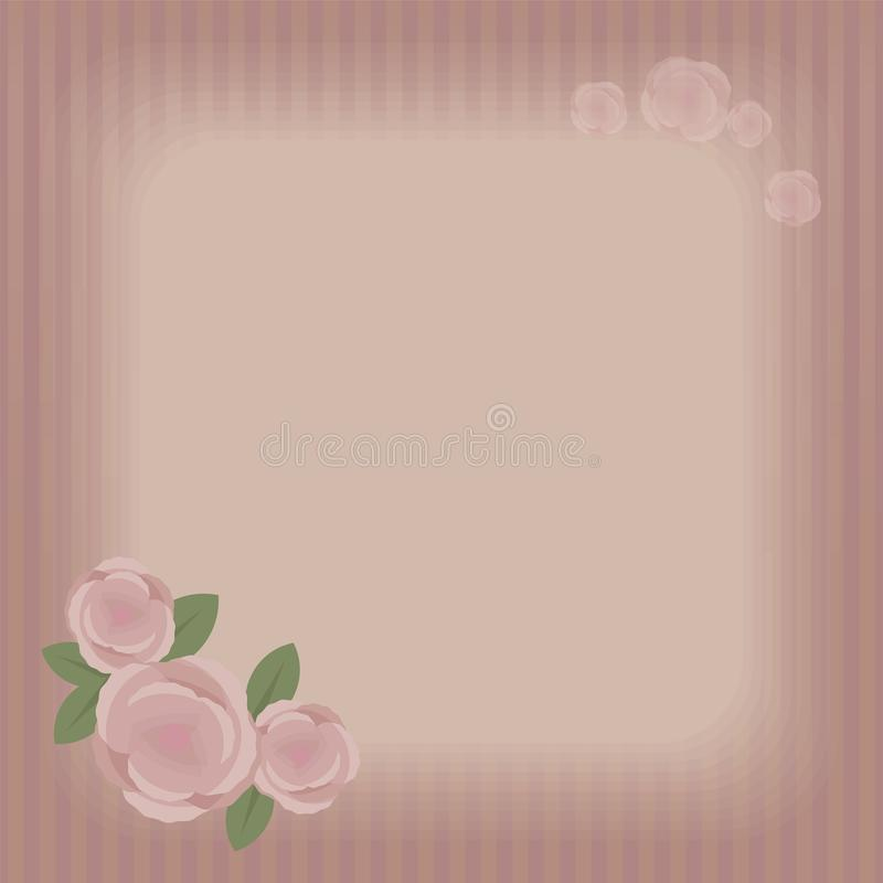 Una vecchia retro pagina a strisce con area quadrata leggera vuota dell'iscrizione, una grande composizione del quadrato di vetto royalty illustrazione gratis