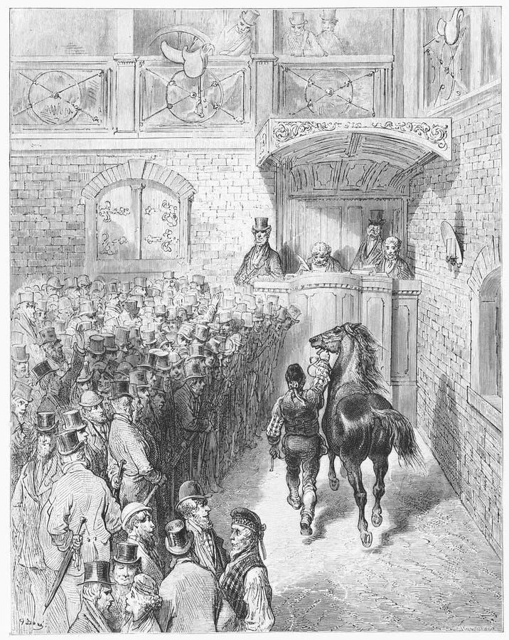 Una vendita a Tattersall royalty illustrazione gratis
