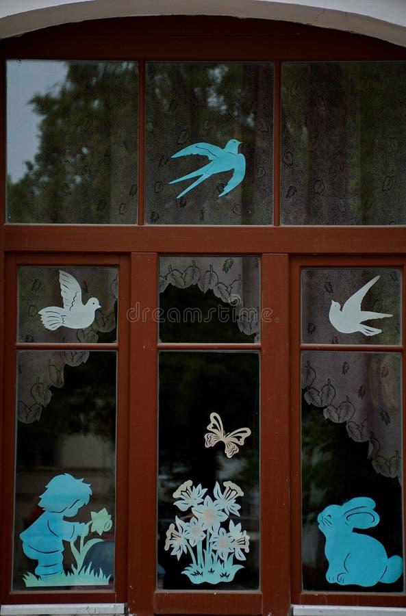 Una ventana en Vitebsk fotos de archivo