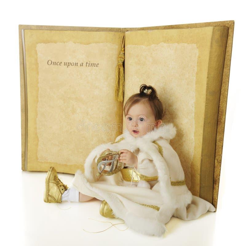 Una vez sobre una princesa de la nieve fotografía de archivo