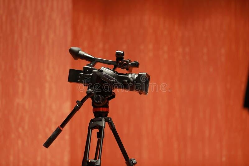Una videocamera immagine stock