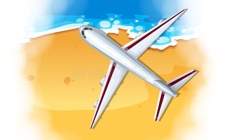 Una visión aérea plana stock de ilustración