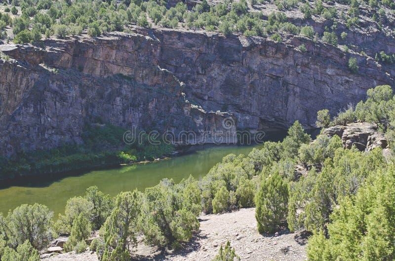 Una visión abajo de la colina del Green River fotografía de archivo