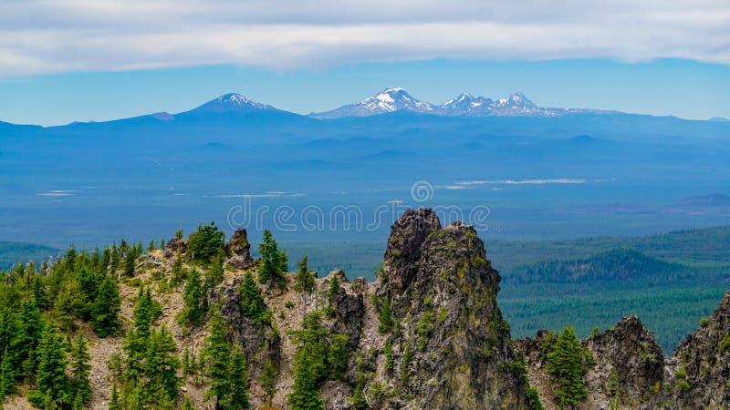 Una visión desde arriba del pico imagen de archivo