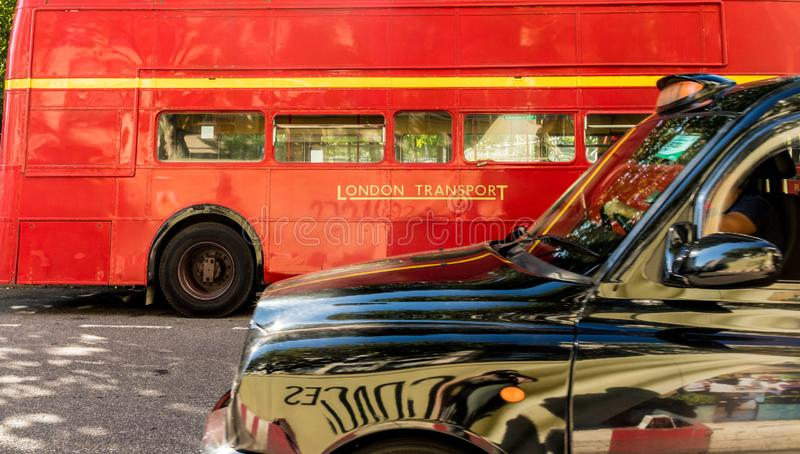 Una visión típica en Westminster en Londres imagen de archivo