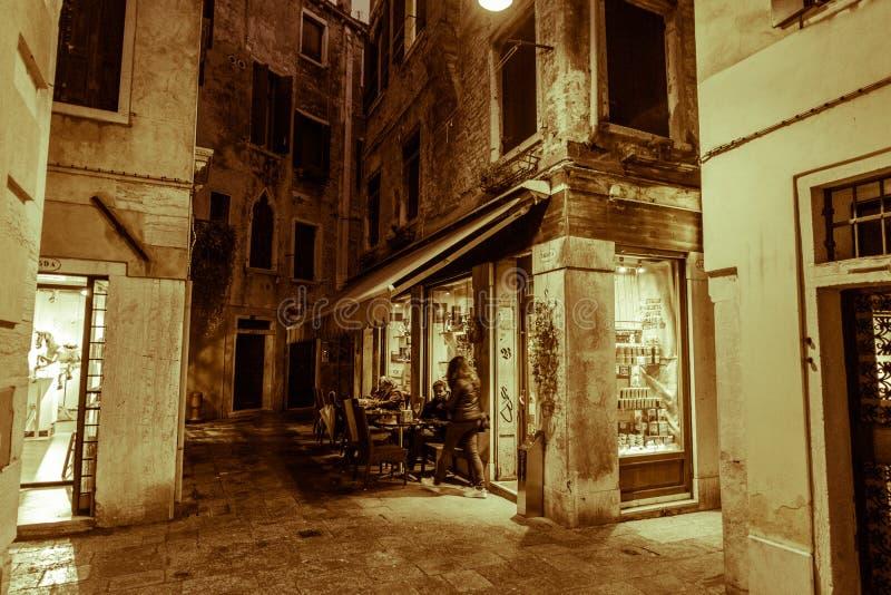 Una visita de Venecia cuando los turistas no están allí foto de archivo libre de regalías