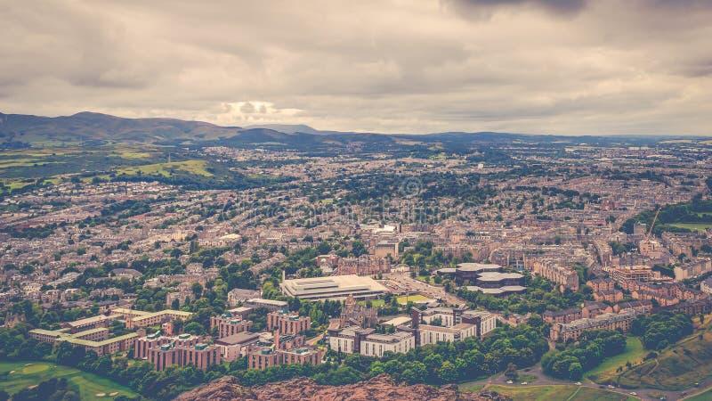 Una vista aérea de la ciudad de Edimburgo, Escocia fotografía de archivo libre de regalías