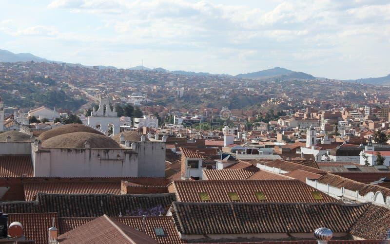 Una vista aérea de Sucre imagen de archivo