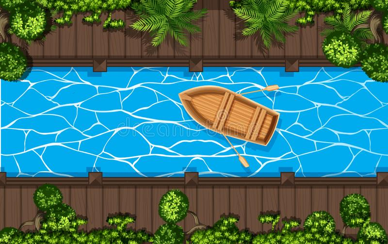 Una vista aérea del canal libre illustration