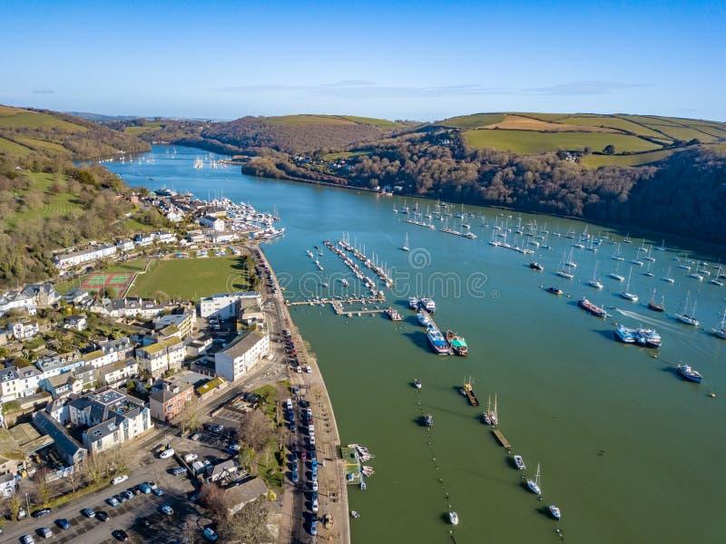 Una vista aerea di Dartmouth in Devon, Regno Unito fotografie stock