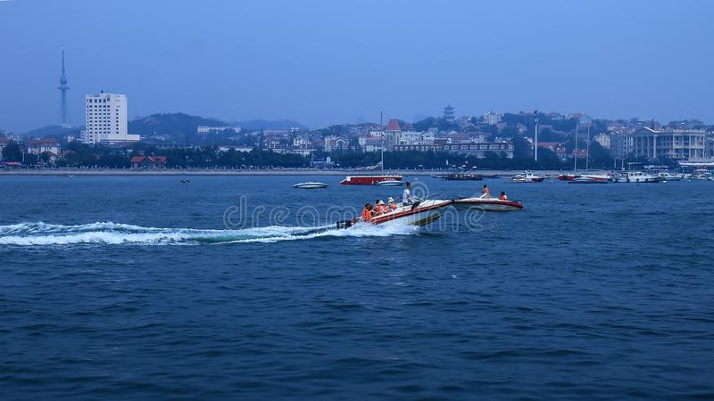 Una vista agradable de la playa scenery2 de Qingdao fotos de archivo libres de regalías