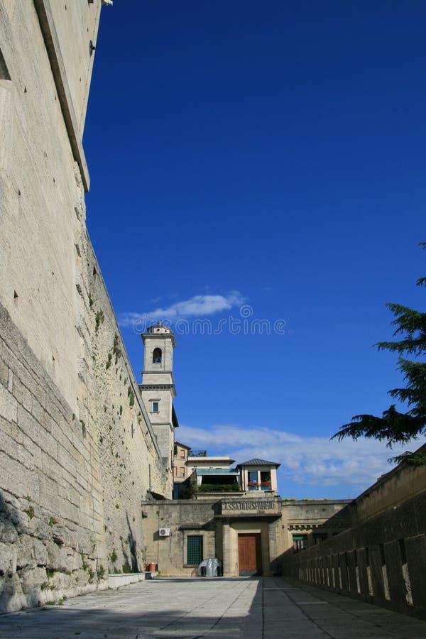 Una vista alla via del San Marino fotografia stock libera da diritti
