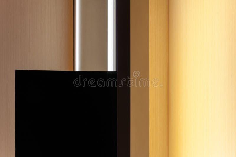 Una vista astratta di un interno di una stanza immagine stock