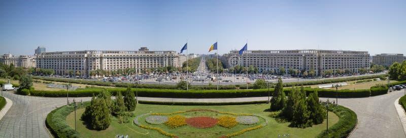 Una vista dal palazzo del Parlamento, Bucarest, Romania immagine stock