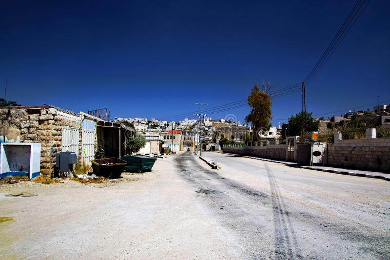Una vista de Hebrón en Israel fotos de archivo