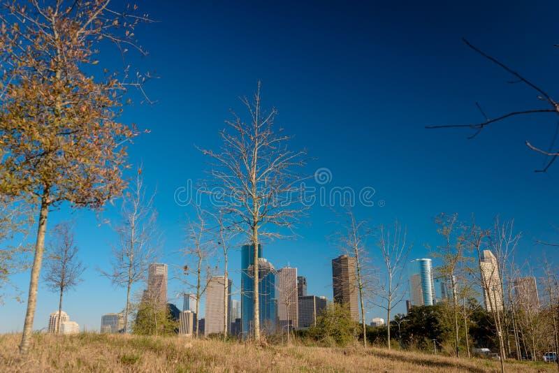 Una vista de Houston céntrica imágenes de archivo libres de regalías