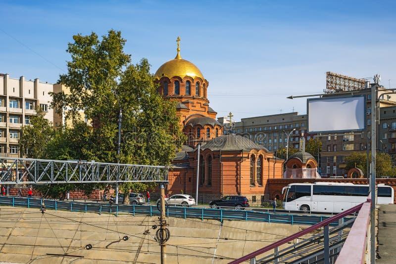 Una vista de la catedral en nombre de Alexander Nevsky Novosi imagenes de archivo