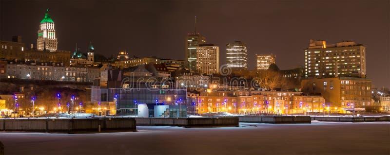 Panorama de la ciudad de Quebec Harbourfront fotografía de archivo