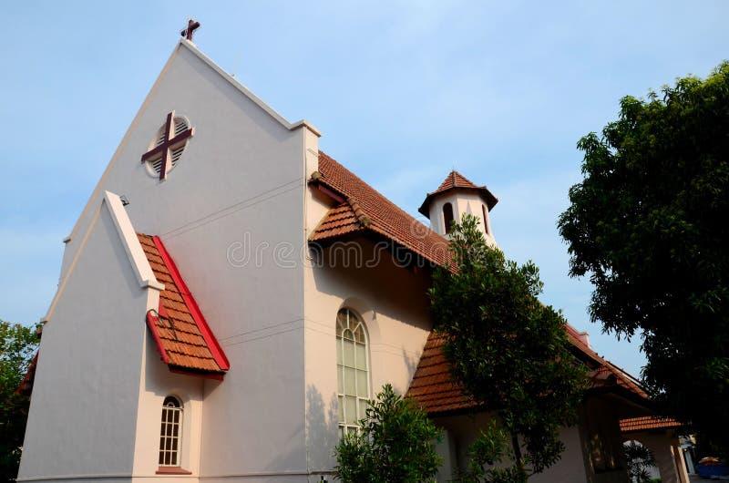 Una vista de la iglesia del St Hilda del anglicano en Katong Singapur imágenes de archivo libres de regalías
