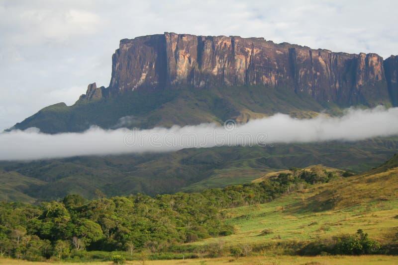 Una vista de la montaña de Roraima en Venezuela foto de archivo libre de regalías