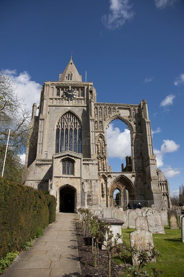Una vista de los restos de la abadía de Crowland, Lincolnshire, Ki unido fotos de archivo