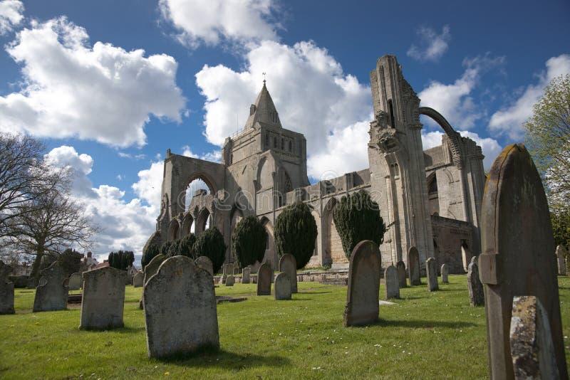 Una vista de los restos de la abadía de Crowland, Lincolnshire, Ki unido imagen de archivo
