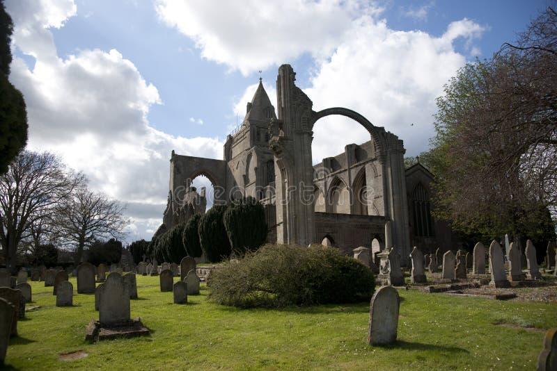 Una vista de los restos de la abadía de Crowland, Lincolnshire, Ki unido imagen de archivo libre de regalías