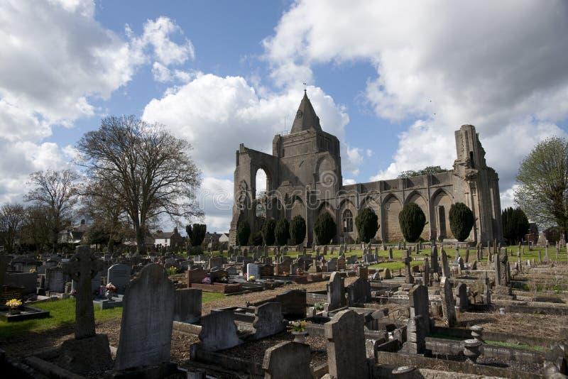 Una vista de los restos de la abadía de Crowland, Lincolnshire, Ki unido imagenes de archivo