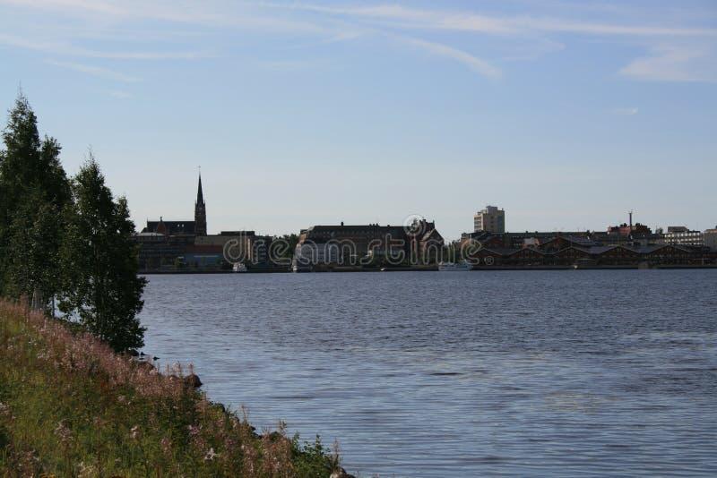 Una vista de Lulea, Suecia imagenes de archivo