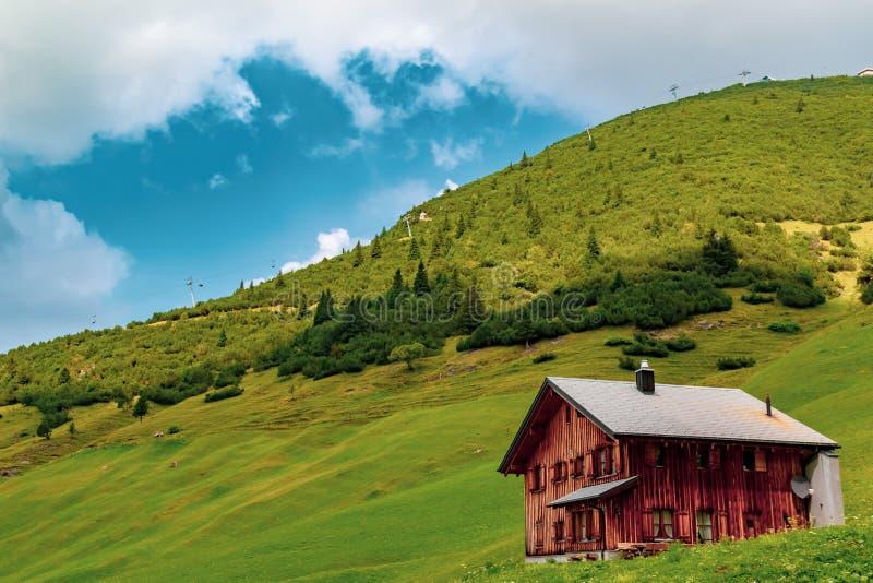 Una vista de Malbun, estación de esquí en Liechtenstein fotos de archivo