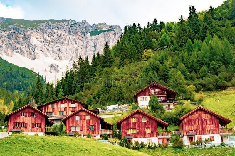 Una vista de Malbun, estación de esquí en Liechtenstein fotos de archivo libres de regalías