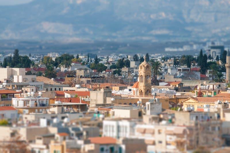 Una vista de Nicosia foto de archivo libre de regalías