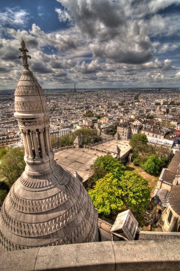 Una vista de París imagen de archivo libre de regalías