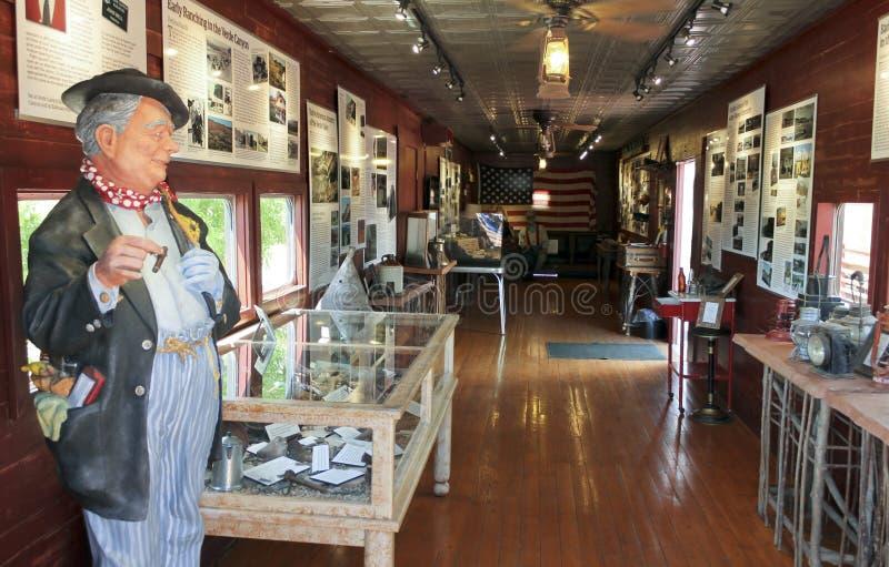 Una vista del ferrocarril John Bell Museum, Clarkdale, AZ, los E.E.U.U. del barranco de Verde imagen de archivo libre de regalías