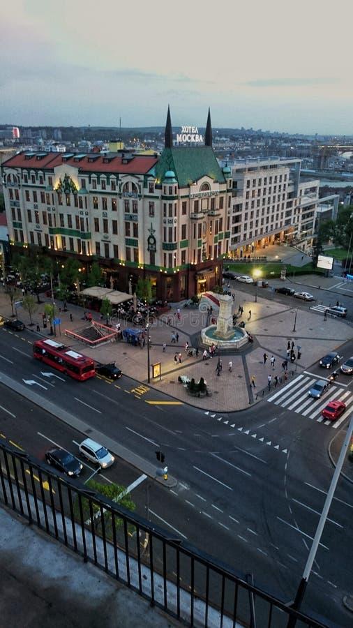 Una vista del hotel de Moscú imagenes de archivo