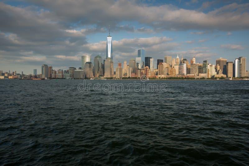 Una vista del Lower Manhattan immagine stock