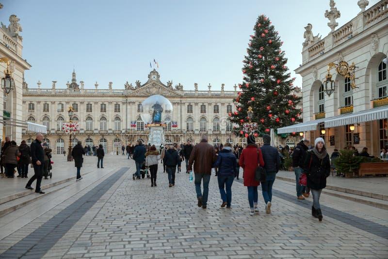 Una vista del lugar Estanislao en la Navidad imagen de archivo libre de regalías
