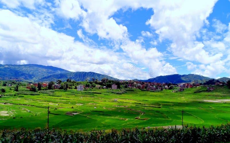 Una vista del paesaggio fotografia stock