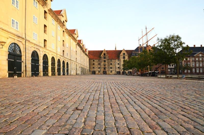Una vista del pakhus di Eigtveds in Christianshavn, Copenhaghen, Danimarca fotografia stock
