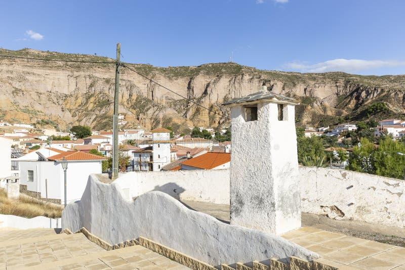 Una vista del pueblo de Gorafe fotos de archivo