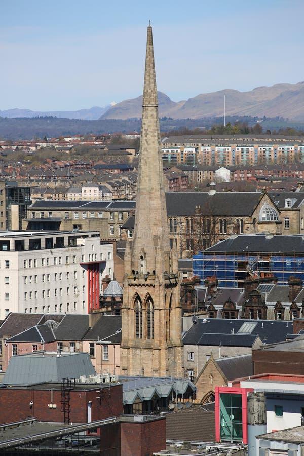 Una vista del tetto sopra Glasgow centrale, Scozia, Regno Unito fotografia stock