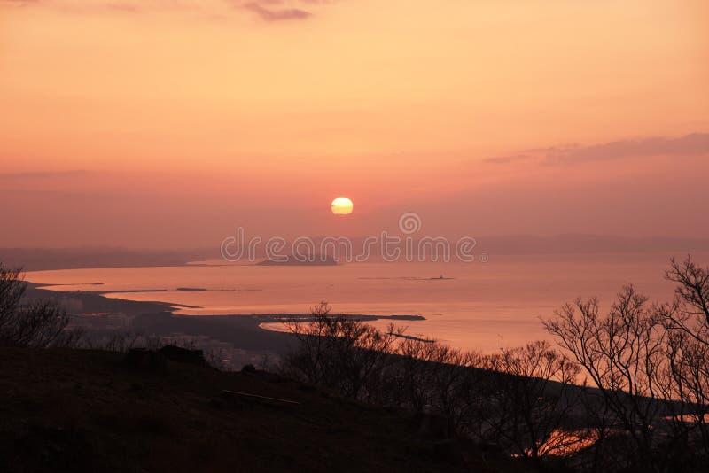 Una vista dell'alba immagini stock libere da diritti