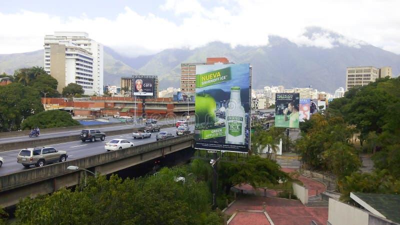 Una vista della città di Caracas immagine stock libera da diritti