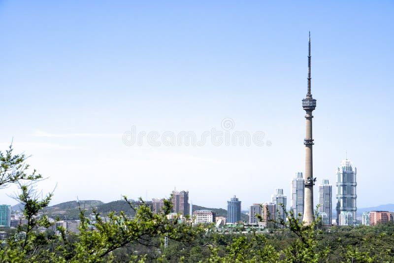 Una vista della torre di Pyongyang TV Pyongyang, DPRK - Corea del Nord fotografia stock