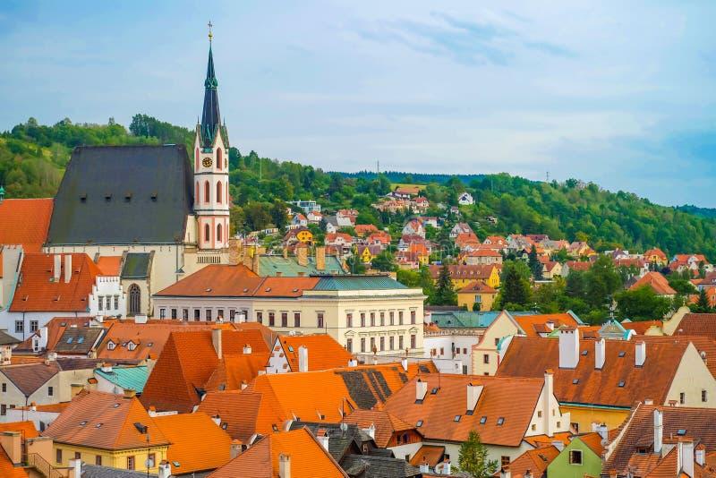Una vista di Cesky Krumlov, repubblica Ceca immagine stock