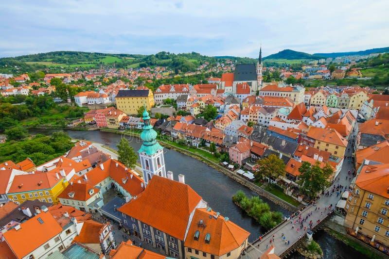 Una vista di Cesky Krumlov, repubblica Ceca immagini stock