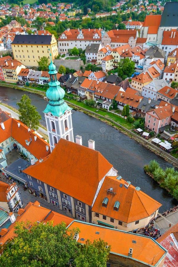 Una vista di Cesky Krumlov, repubblica Ceca fotografia stock libera da diritti