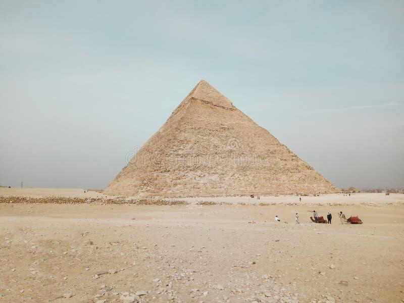 Una vista di grande piramide a Giza, Egitto fotografia stock libera da diritti