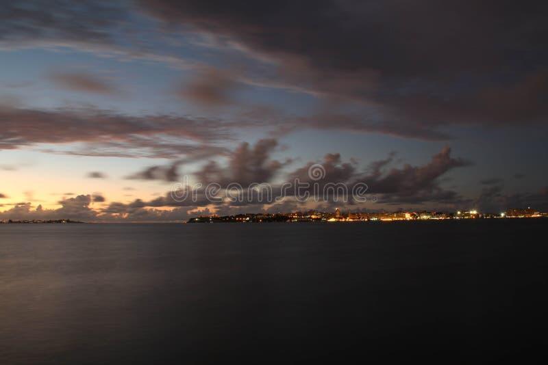 Una vista di oceano fotografia stock