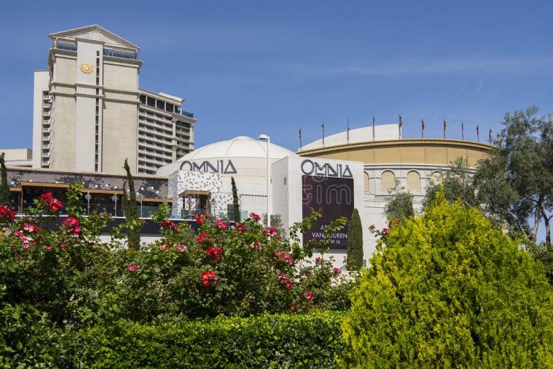 Una vista diurna de Omnia en el Caesars Palace imagen de archivo libre de regalías